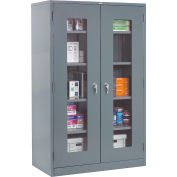 Global Industrial™ Clear View Storage Cabinet Assembled 36x18x78 - Gray