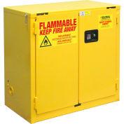 "Global Industrial™ Flammable Cabinet, 22 Gallon, Self Close Double Door, 34""W x 18""D x 35""H"