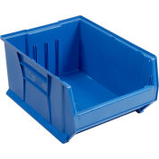 """Quantum Plastic Hulk Stacking Bin, 16-1/2""""W x 24""""D x 11""""H, Blue"""