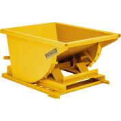Wright™ 10077 1 Cu Yd Yellow Heavy Duty Self Dumping Forklift Hopper