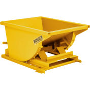 Global Industrial™ 4 Cu Yd Yellow HD Self Dumping Forklift Hopper with Heavy Gauge Base
