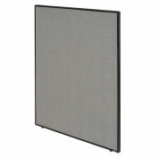 """Interion® Pre-Configured Partitioned Office Starter, 8'W x 10'D x 60""""H, Gray"""