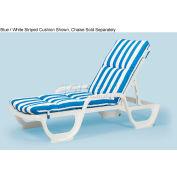 Grosfillex® Chaise Cushion With Hood - Blue - Pkg Qty 6