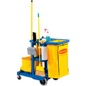 Rubbermaid® Janitor Cart Blue with 25 Gallon Vinyl Bag 6173-88