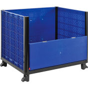 Global Industrial™ Easy Assembly Solid Wall Bulk Container 39-1/4 x 31-1/2 x 29 - Drop Gate