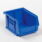 "Global Industrial™ Plastic Stack & Hang Bin, 4-1/8""W x 5-3/8""D x 3""H, Blue - Pkg Qty 24"