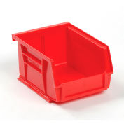 Global Industrial™ Plastic Stack and Hang Parts Storage Bin 4-1/8 x 5-3/8 x 3, Red - Pkg Qty 24