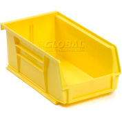 Global Industrial™ Plastic Stack and Hang Parts Storage Bin 4-1/8 x 7-3/8 x 3, Yellow - Pkg Qty 24