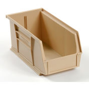 Global Industrial™ Plastic Stack and Hang Parts Storage Bin 5-1/2 x 10-7/8 x 5, Beige - Pkg Qty 12