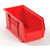 Global Industrial™ Plastic Stack and Hang Parts Storage Bin 5-1/2 x 10-7/8 x 5, Red - Pkg Qty 12