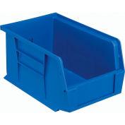 Plastic Stack and Hang Parts Storage Bin 6 x 9-1/4 x 5 Blue - Pkg Qty 12