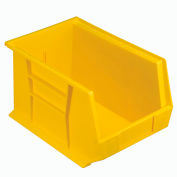 "Global Industrial™ Plastic Stack & Hang Bin, 8-1/4""W x 13-5/8""D x 8""H, Yellow - Pkg Qty 12"