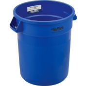 Global Industrial™ Plastic Trash Container, Garbage Can - 20 Gallon Blue