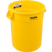 Global Industrial™ Plastic Trash Can - 20 Gallon Yellow
