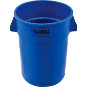 Global Industrial™ Plastic Trash Can - 44 Gallon Blue