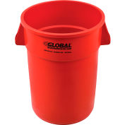 Global Industrial™ Plastic Trash Container, Garbage Can - 44 Gallon Red