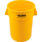 Global Industrial™ Plastic Trash Container, Garbage Can - 44 Gallon Yellow
