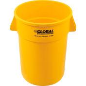 Global Industrial™ Plastic Trash Can - 44 Gallon Yellow
