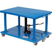 Global Industrial™ Work Positioning Post Lift Table Foot Control 2000 Lb. Cap. 48x32 Platform