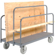 Global Industrial™ Panel, Sheet & Lumber Truck with Carpeted Deck 1200 Lb. Capacity