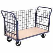 Global Industrial™ Euro Truck with 3 Wire Sides & Wood Deck 48 x 24 2000 Lb. Capacity