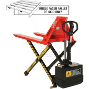 Battery Operated High Lift Skid Truck 3300 Lb. Capacity - 27 x 44 Forks