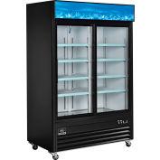 Nexel® Merchandiser Refrigerator, 2 Door, 53.1''Wx31.9''Dx84.4''H
