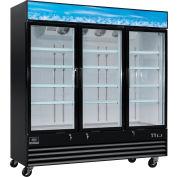 """Nexel® Merchandiser Refrigerator, 3 Door, 78-3/8""""Wx30""""Dx84""""H, 53 Cu. Ft."""
