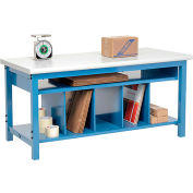 Global Industrial™ Packing Workbench Plastic Safety Edge - 60 x 30 with Lower Shelf Kit