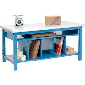 "Global Industrial™ Packing Workbench W/Lower Shelf Kit, Laminate Safety Edge, 60""W x 36""D"