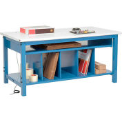 Global Industrial™ Packing Workbench ESD Safety Edge - 72 x 30 with Lower Shelf Kit