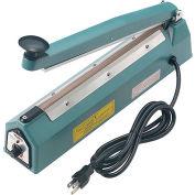 "Global Industrial™ 12"" Hand Impulse Sealer w/ 2mm Seal Width, Blue"