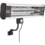 HeTR H1016UPS Wall Mounted Patio Heater - Electric Radiant With Remote - 1500 Watts