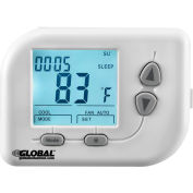 Global Industrial™ Non-Programmable Thermostat, Heat, Cool, Off, Auto, 24 VAC