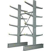 "Cantilever Rack Double Sided, Starter Unit Medium Duty (1000 Series),48""W  x 54""D x8'H,10600 Lbs Cap"