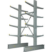 "Cantilever Rack Double Sided, Starter Unit Medium Duty (1000 Series),48""W  x 54""D x8'H,10600 Lbs Cap"