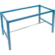 Global Industrial™ 60 x 30 Steel Square Tube Height Adj. Production Workbench Frame - Blue