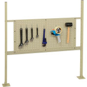 "Global Industrial™ Panel Kit for 48""W Workbench - 36""W Pegboard, Mounting Rails & Uprights Tan"