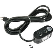 Global Industrial™ Dual Sided Electrical Outlet With 15' Power Cord, ETL/cETL Listed
