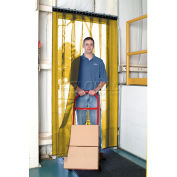 Aleco® Air-Flex® Yellow Insect Barrier & Bug Curtain 405058 12'W x 8'H