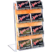 "Azar Displays 252048, Dbl Foot Acrylic Sign HLR W/8 Business Card Pockets, 11""W x 8.5""H"