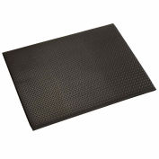 """Apache Mills Diamond Deluxe Soft Foot™ Mat 1/2"""" Thick 4' x Up to 60' Black"""