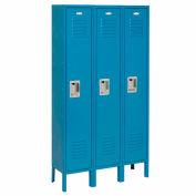 Infinity® Locker Single Tier 12x15x60 3 Door Assembled Blue
