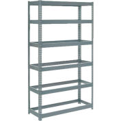 "Global Industrial™ Extra Heavy Duty Shelving 48""W x 12""D x 60""H With 6 Shelves, No Deck, Gray"