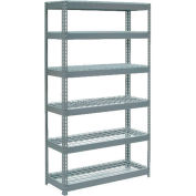 "Global Industrial™ Extra Heavy Duty Shelving 48""W x 12""D x 84""H With 6 Shelves, Wire Deck, Gry"