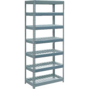 """Global Industrial™ Extra Heavy Duty Shelving 36""""W x 24""""D x 84""""H With 7 Shelves, Wire Deck, Gry"""