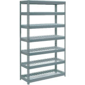 "Global Industrial™ Extra Heavy Duty Shelving 48""W x 24""D x 96""H With 7 Shelves, Wire Deck, Gry"