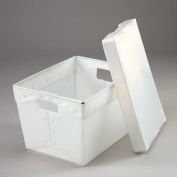 Global Industrial™ Corrugated Plastic Totes - Postal Nesting with Lid 18-1/2x13-1/4x12 Natural - Pkg Qty 10