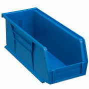 "Global Industrial™ Plastic Stack & Hang Bin, 4-1/8""W x 10-7/8""D x 4""H, Blue - Pkg Qty 12"