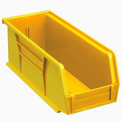 Global Industrial™ Plastic Stack and Hang Parts Storage Bin 4-1/8 x 10-7/8 x 4, Yellow - Pkg Qty 12